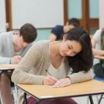 Students taking an examination