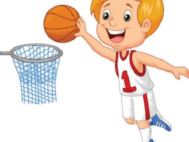 Watch video of kindergarten children show basketball skills