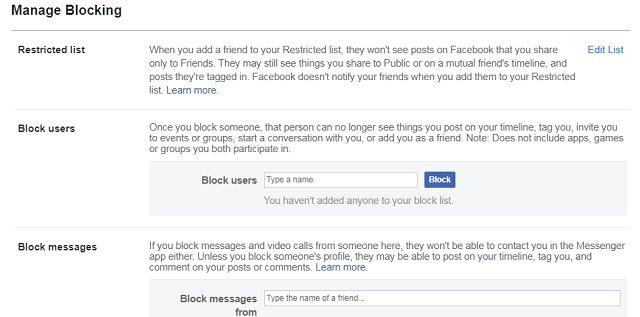 Facebook - Block a friend or someone