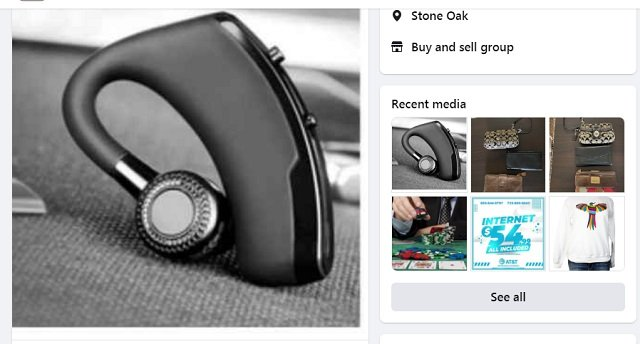 Facebook Marketplace in San Antonia, Texas the US