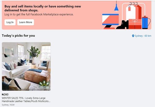 Facebook Marketplace Australia