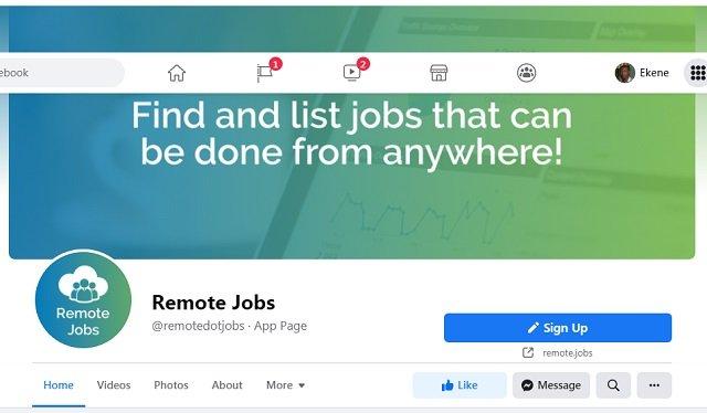 Online Remote Facebook Jobs