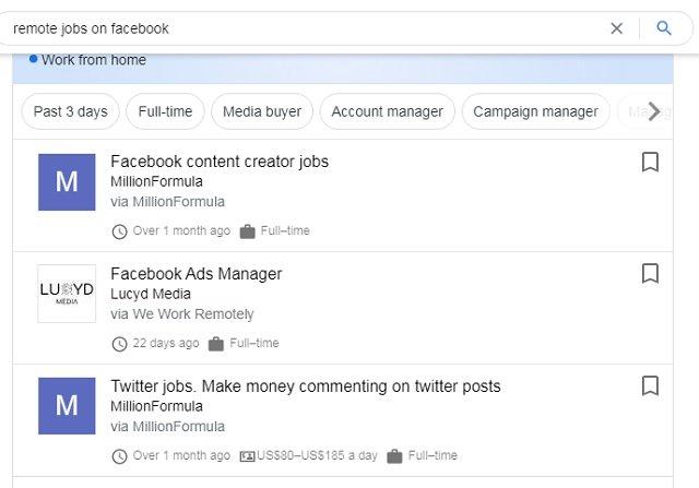 Remote Jobs Ads on Facebook