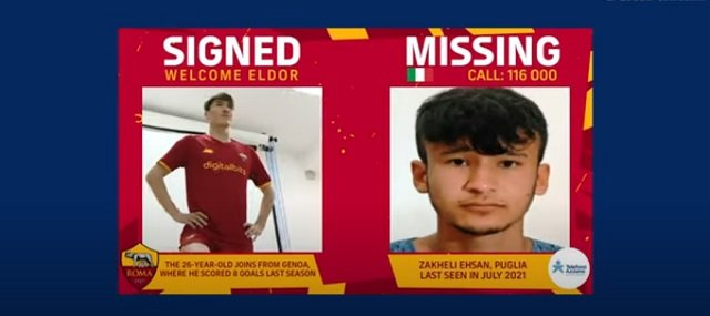 Roma's 'football cares' Twitter Initiative helped find 12 missing kids
