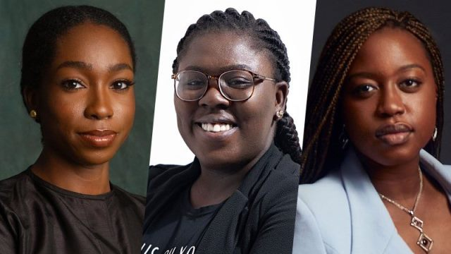 Three influential Nigerian #EndSARS women campaigners Feyikemi 'FK' Abudu, Odunayo Eweniyi, and Damilola Odufuwa