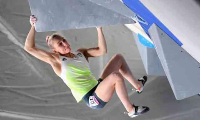Janja Garnbret is a Slovenian climber and athlete