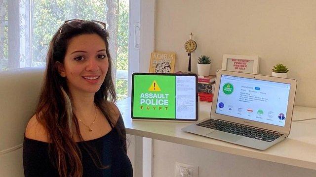 Nadeen Ashraf is a female Egyptian digital technology student activist