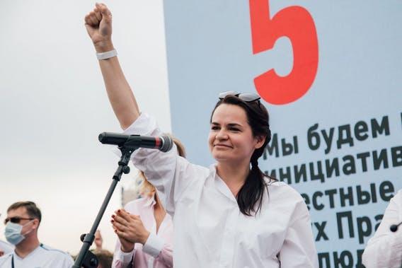 Svetlana Tikhanovskaya is a Belarus feminist revolutionist and freedom fighter.