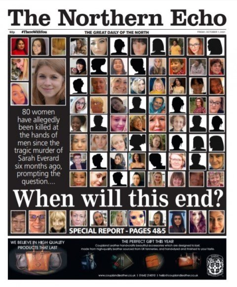 80 killed UK women via male violence ever since Sarah Everard's murder since March 2021