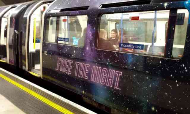 Reopening of London Night Tube will enable women and girls feel safe returning home at night